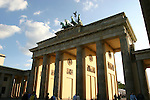The Brandenburger Tor (Brandenburg Gate) is in East Berlin, formerly behind the Wall.  The Quadriga statue on top was once kidnapped by Napolean and taken to Paris, but was returned in 1814.  Berlin, Germany