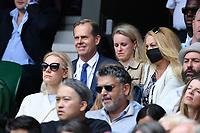 8th July 2021, Wimbledon, SW London, England; 2021 Wimbledon Championships, quarterfinals; Stefan Edberg in the crowd