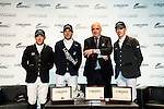 Gerco Schroder, Julien Epaillard, Walter Von Känel and Scott Brash at the press conference of Longines Hong Kong Masters 2015 at the AsiaWorld Expo on 13 February 2015 in Hong Kong, China. Photo by Moses Ng / Power Sport Images