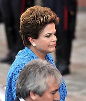 BUENOS AIRES, ARGENTINA, 10 DEZEMBRO 2011 - POSSE CRISTINA KIRCHNER PRESIDENCIA ARGENTINA - A presidente do Brasil Dilma Rousseff durante posse de Cristina Fernandez de Kirchner na tarde deste sábado, 10, em Buenos Aires, capital da Argentina. (FOTO: FOTO: JUANI RONCORONI - NEWS FREE).