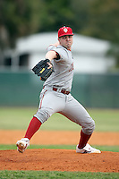 February 22, 2009:  Pitcher Joe Vicini (14) of Indiana University during the Big East-Big Ten Challenge at Naimoli Complex in St. Petersburg, FL.  Photo by:  Mike Janes/Four Seam Images