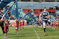 20130310 Copyright onEdition 2013©.Free for editorial use image, please credit: onEdition..James Gaskell of Sale Sharks runs out for the start of the LV= Cup semi final match between Sale Sharks and Saracens at the Salford City Stadium on Sunday 10th March 2013 (Photo by Rob Munro)..For press contacts contact: Sam Feasey at brandRapport on M: +44 (0)7717 757114 E: SFeasey@brand-rapport.com..If you require a higher resolution image or you have any other onEdition photographic enquiries, please contact onEdition on 0845 900 2 900 or email info@onEdition.com.This image is copyright onEdition 2013©..This image has been supplied by onEdition and must be credited onEdition. The author is asserting his full Moral rights in relation to the publication of this image. Rights for onward transmission of any image or file is not granted or implied. Changing or deleting Copyright information is illegal as specified in the Copyright, Design and Patents Act 1988. If you are in any way unsure of your right to publish this image please contact onEdition on 0845 900 2 900 or email info@onEdition.com