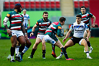3rd January 2021; Welford Road Stadium, Leicester, Midlands, England; Premiership Rugby, Leicester Tigers versus Bath Rugby; Freddie Steward of Leicester Tigers takes the ball into contact