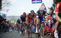 Tom Boonen (BEL/Etixx-QuickStep) up the Oude Kwaremont<br /> <br /> 100th Ronde van Vlaanderen 2016