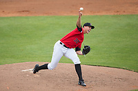 Kannapolis Intimidators starting pitcher Alec Hansen (30) in action against the Rome Braves at Kannapolis Intimidators Stadium on April 12, 2017 in Kannapolis, North Carolina.  The Braves defeated the Intimidators 4-3.  (Brian Westerholt/Four Seam Images)