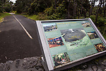 Kilauea Volcano National Park Interpretive Panel