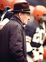 Cincinnati Bengals Paul Brown head coach during a game from his 1972 season with the Cincinnati Bengals. Paul Brown coached for 25 season with 2 different teams and was inducted into the Pro Football Hall of Fame in 1967.(SportPics)