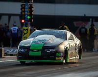 Sep 16, 2016; Concord, NC, USA; NHRA pro stock driver Alex Laughlin during qualifying for the Carolina Nationals at zMax Dragway. Mandatory Credit: Mark J. Rebilas-USA TODAY Sports