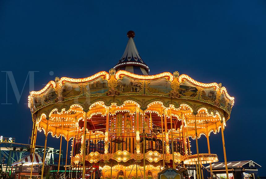 Carousel amusement ride, Atlantic City, New Jersey, USA
