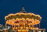 Carousel amusement ride, Atlantic City, New Jersey, USA