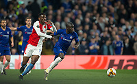 Ngolo KANTE of Chelsea & Ibrahim Traoré of Slavia Prague during the UEFA Europa League match between Chelsea and Slavia Prague at Stamford Bridge, London, England on 18 April 2019. Photo by Andy Rowland / PRiME Media Images.<br /> .<br /> .<br /> Editorial use only, license required for commercial use. No use in betting,<br /> games or a single club/league/player publications.'