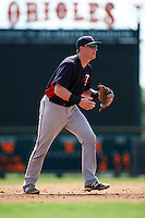 Minnesota Twins Travis Blankenhorn (25) during an instructional league game against the Baltimore Orioles on September 22, 2015 at Ed Smith Stadium in Sarasota, Florida.  (Mike Janes/Four Seam Images)