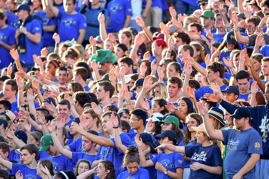 September 10, 2016; Student section at Notre Dame Stadium. (Photo by Matt Cashore)