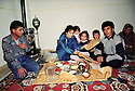Syria 2000 <br /> Lunch of a Kurdish family in Damascus, district of Rocledin   <br /> <br /> Syrie 2000 <br /> Dejeuner d'une famille kurde a Damas dans le quartier de Rocledine