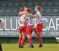 pictured during a female soccer game between Eendracht Aalst and SV Zulte Waregem on the fourth matchday of play off 2 of the 2020 - 2021 season of Belgian Scooore Womens Super League , Saturday 1 st of May 2021  in Aalst , Belgium . PHOTO SPORTPIX.BE | SPP | DIRK VUYLSTEKE