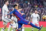 Real Madrid's Daniel Carvajal, FC Barcelona's Neymar Santos Jr  during spanish La Liga match between Futbol Club Barcelona and Real Madrid  at Camp Nou Stadium in Barcelona , Spain. Decembe r03, 2016. (ALTERPHOTOS/Rodrigo Jimenez)