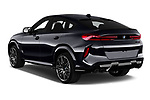 Car pictures of rear three quarter view of 2020 BMW X6-M Competition 5 Door SUV Angular Rear