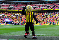 Not a good day for the Watford mascot Harry the Hornet at the FA CUP FINAL match between Manchester City and Watford at Wembley Stadium, London, England on 18 May 2019. Photo by Andy Rowland.