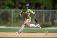Justin Tejeda during the WWBA World Championship at the Roger Dean Complex on October 20, 2018 in Jupiter, Florida.  Justin Tejeda is an outfielder from Orlando, Florida who attends Central Pointe Christian Academy.  (Mike Janes/Four Seam Images)