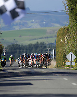 Under-19 Women's road race, Carterton-Martinborough-Gladstone circuit. Day three of the 2018 NZ Age Group Road Cycling Championships in Carterton, New Zealand on Sunday, 22 April 2018. Photo: Dave Lintott / lintottphoto.co.nz