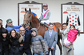 Vyjack's connections in the winners circle after scoring in the Gotham.