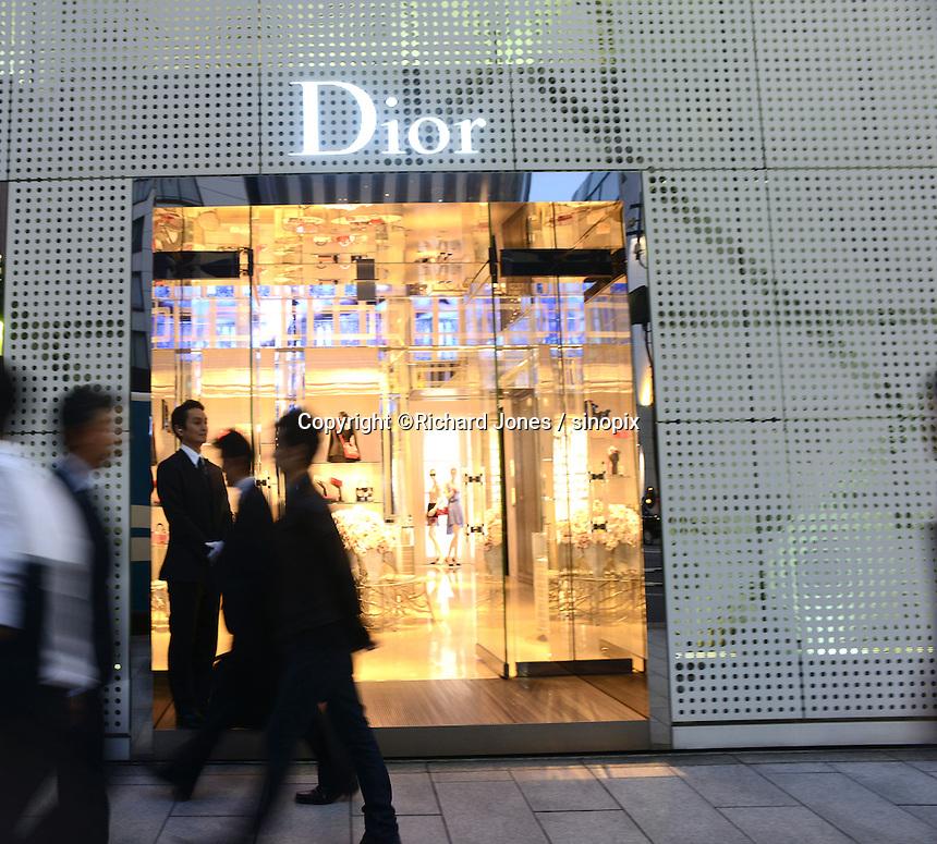 DIOR, FRENCH DESIGNER BRAND SHOP IIN GINZA, TOKYO