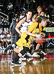 Grambling State Lady Tigers guard Rachele Dobbins (22) in action during the SWAC Tournament game between the Alcorn State Braves and the Grambling State Tigers at the Special Events Center in Garland, Texas. Grambling State defeats Alcorn State 72 to 63.
