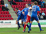 St Johnstone v Inverness Caledonian Thistle.....25.04.11.Chris Innes scores the first goal.Picture by Graeme Hart..Copyright Perthshire Picture Agency.Tel: 01738 623350  Mobile: 07990 594431