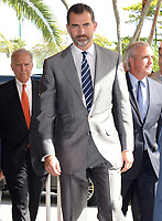 KEY BISCAYNE, FL - NOVEMBER 18: (EXCLUSIVE COVERAGE) Prince Felipe of Spain and Princess Letizia of Spain meet Miami Mayor Tomas Regalado for lunch at the Rusty Pelican Restaurant on November 18, 2013 in Key Biscayne, Florida<br /> <br /> <br /> People:  Prince Felipe of Spain