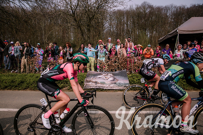race-side party<br /> <br /> 8th Gent-Wevelgem In Flanders Fields 2019 <br /> Elite Womens Race (1.WWT)<br /> <br /> One day race from Ypres (Ieper) to Wevelgem (137km)<br /> ©JojoHarper for Kramon