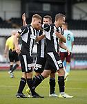Gavin Reilly celebrates his second goal