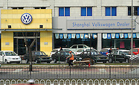 A Volkwagen dealership in Beijing, China. SGM is a joint-venture between General Motors and the Shanghai Automotive Industry Corporation also known as SAIC.
