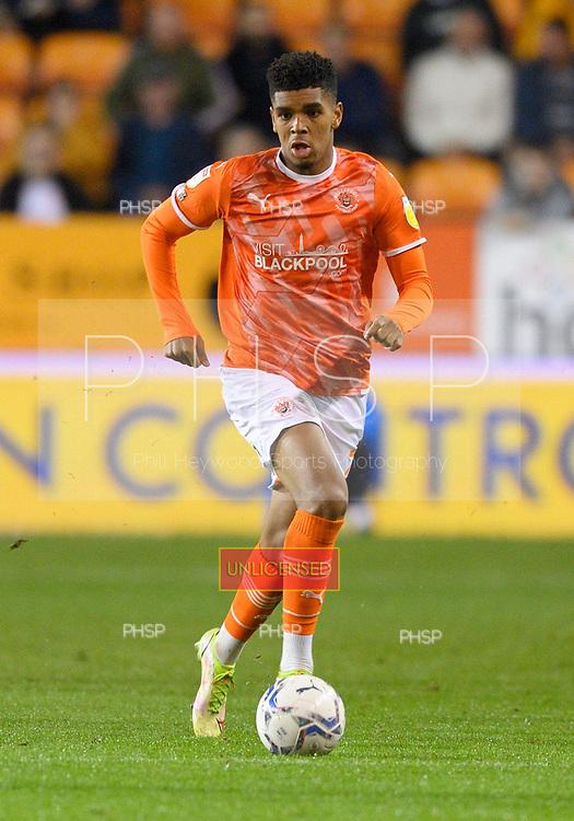 14/09/2021 Sky Bet Championship Blackpool v Huddersfield Town  <br /> <br /> Tyreece John-Jules, Blackpool FC