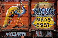 Asie/Inde/Maharashtra/Bombay: Détail d'un camion représentant un paon symbole national