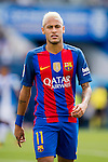 Neymar JR of FC Barcelona looks on during their La Liga match between Deportivo Leganes and FC Barcelona at the Butarque Municipal Stadium on 17 September 2016 in Madrid, Spain. Photo by Diego Gonzalez Souto / Power Sport Images