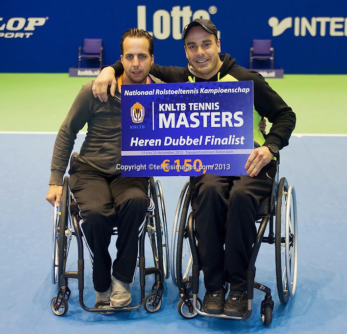 21-12-13,Netherlands, Rotterdam,  Topsportcentrum, Tennis Masters, Final doubles man's wheelchair:  runners up :  Berry Korst and Koen Meerwijk (NED)(L)<br /> Photo: Henk Koster