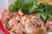Portland Maine lobster roll lunch at famous Gilbert's Chowder House restaurant specialty