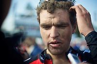 111th Paris-Roubaix 2013..Greg Van Avermaet (BEL) interviewed postrace.