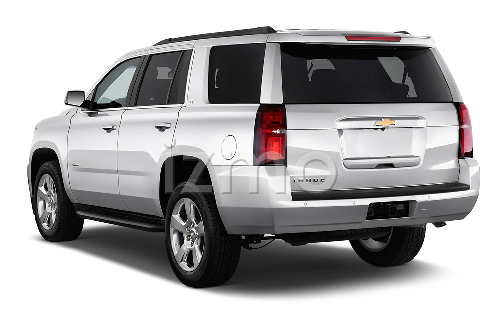Rear three quarter view of a 2017 Chevrolet Tahoe 2WD LT 5 Door SUV
