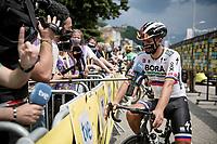 Peter Sagan (SVK/Bora-Hansgrohe)  interviewed at the race start in Albertville<br /> <br /> Stage 10 from Albertville to Valence (191km)<br /> 108th Tour de France 2021 (2.UWT)<br /> <br /> ©kramon