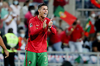 1st September 2021; Faro, Algarve, Portugal:  Portugals Cristiano Ronaldo celebrates after scoring a goal during the FIFA World Cup,  2022 European qualifying round group A football match between Portugal and Ireland in Faro, Portugal