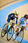 Hui Yat Nga (l) of X SPEED competes at the Hong Kong Track Cycling Race 2017 Series 5 on 18 February 2017 at the Hong Kong Velodrome in Hong Kong, China. Photo by Marcio Rodrigo Machado / Power Sport Images