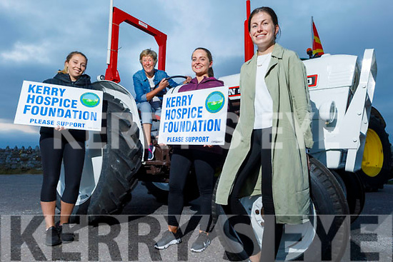 """Karen Walsh, Maura O'Sullivan, Siobhan Ryan and Regina Rath help launch the Tractor Run fundraiser  """"Into the West"""" for the Kerry Hospice on Monday evening in Blennerville, the tractor run is due to the fact that Covid has cancelled the Trashing Festival and the run is going ahead at 12 o'clock Sunday in Blennerville."""