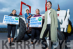"Karen Walsh, Maura O'Sullivan, Siobhan Ryan and Regina Rath help launch the Tractor Run fundraiser  ""Into the West"" for the Kerry Hospice on Monday evening in Blennerville, the tractor run is due to the fact that Covid has cancelled the Trashing Festival and the run is going ahead at 12 o'clock Sunday in Blennerville."