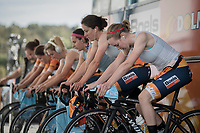 Anna van der Breggen (NED/Boels-Dolmans) & teammates warming up<br /> <br /> Women's Team Time Trial<br /> <br /> UCI 2017 Road World Championships - Bergen/Norway