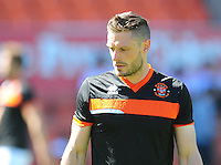 Blackpool Fitness Coach Dan Birdsall during the pre-match warm-up <br /> <br /> Photographer Kevin Barnes/CameraSport<br /> <br /> Football - The EFL Sky Bet League Two - Blackpool v Exeter City - Saturday 6th August 2016 - Bloomfield Road - Blackpool<br /> <br /> World Copyright © 2016 CameraSport. All rights reserved. 43 Linden Ave. Countesthorpe. Leicester. England. LE8 5PG - Tel: +44 (0) 116 277 4147 - admin@camerasport.com - www.camerasport.com