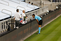 ST PAUL, MN - SEPTEMBER 06: An official consultants VAR during a game between Real Salt Lake and Minnesota United FC at Allianz Field on September 06, 2020 in St Paul, Minnesota.