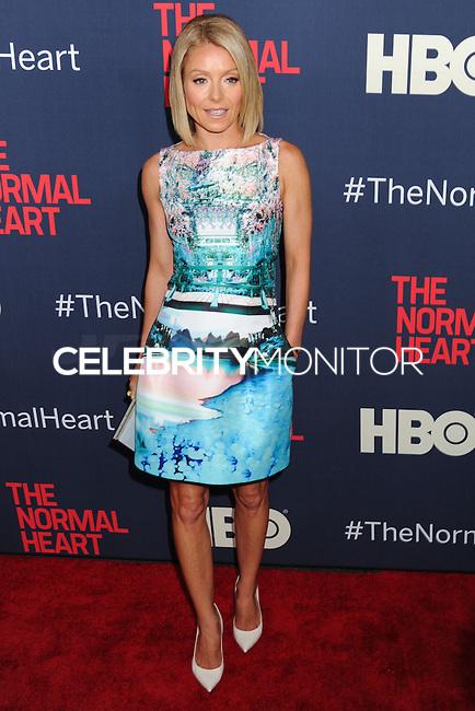 "NEW YORK CITY, NY, USA - MAY 12: Kelly Ripa at the New York Screening Of HBO's ""The Normal Heart"" held at the Ziegfeld Theater on May 12, 2014 in New York City, New York, United States. (Photo by Celebrity Monitor)"