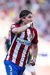Filipe Luis of Atletico de Madrid celebrates his score during the La Liga match between Atletico de Madrid vs Osasuna at the Estadio Vicente Calderon on 15 April 2017 in Madrid, Spain. Photo by Diego Gonzalez Souto / Power Sport Images