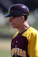 March 7, 2010:  Head Coach Steve Jaksa of the Central Michigan Chippewas during game at Jay Bergman Field in Orlando, FL.  Central Michigan defeated Central Florida by the score of 7-4.  Photo By Mike Janes/Four Seam Images